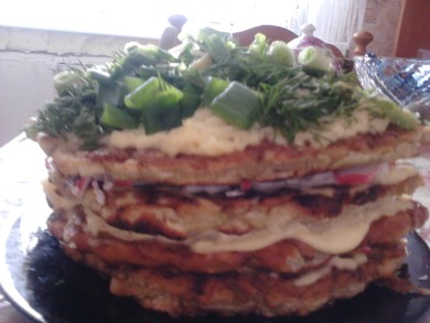 Рецепт кабачковый тортик от моей мамы