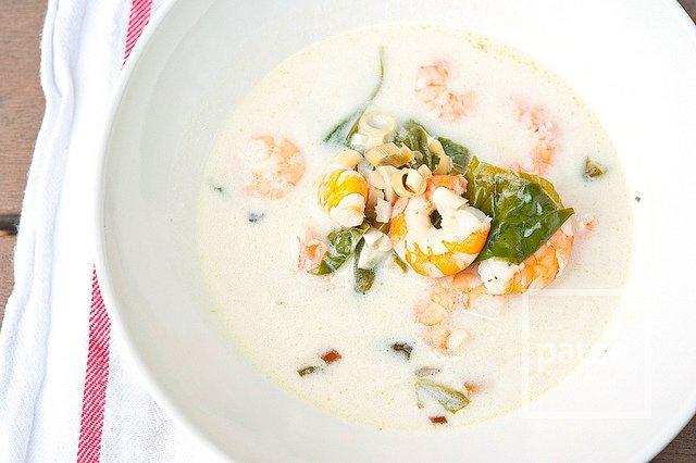 Кокосовый тайский суп с креветками рецепт