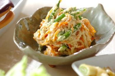 Рецепт Салат из зеленой фасоли с морковью