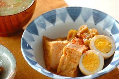 Рецепт Тофу с вареным яйцом