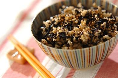 Рецепт Вареный рис с хидзики