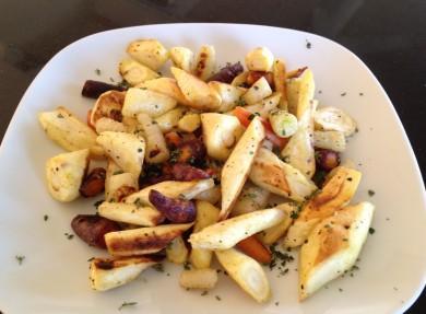Рецепт Жареные пастернак и морковь с тимьяном