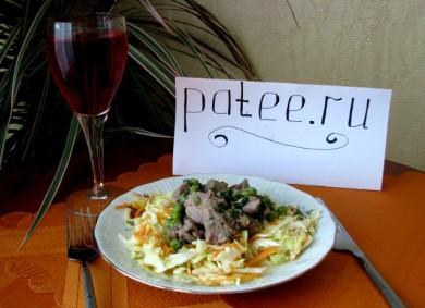 Рецепт Теплый салат с индейкой