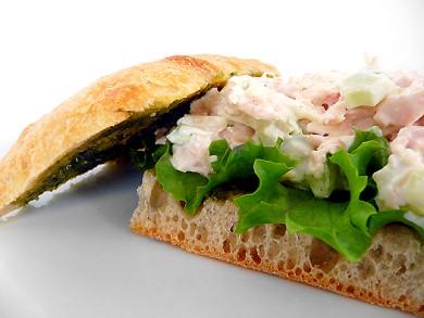 Рецепт Итальянский сэндвич с куриным салатом