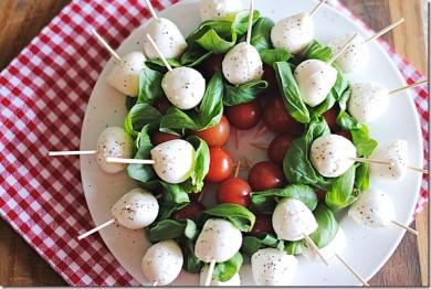 Рецепт Капрезе-шашлык с бальзамическим уксусом