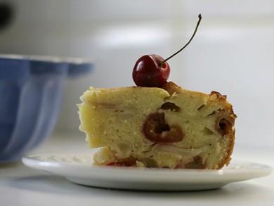 Рецепт Кекс с черешней и грушей