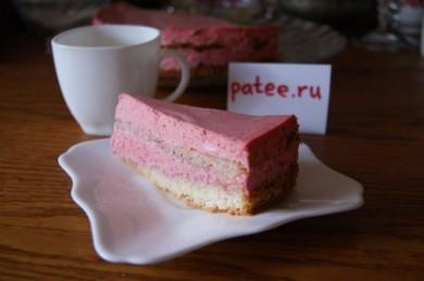 Рецепт Клубничный торт со сливками