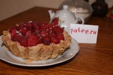 Рецепт Творожный тарт с малиной