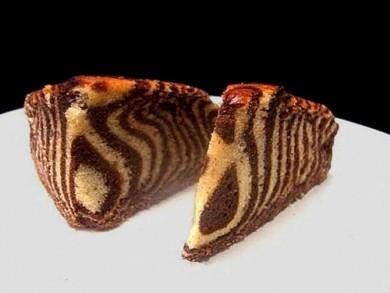 Рецепт Шоколадно-ванильный торт Зебра