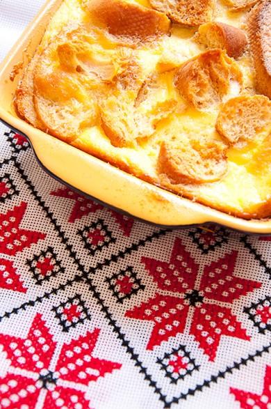 Рецепт Карамельный хлебный пудинг