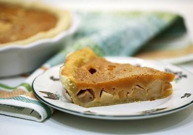Рецепт Яблочный пирог с карамельной заливкой