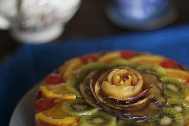 Рецепт Фруктовый торт со сливками и желе