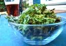 Чипсы из листа салата