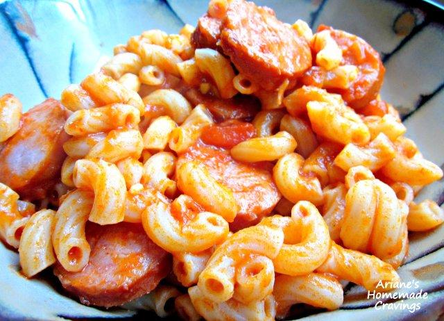 Фото рецепт макароны с колбасой