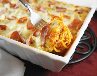 Рецепт Запеченная пицца-спагетти