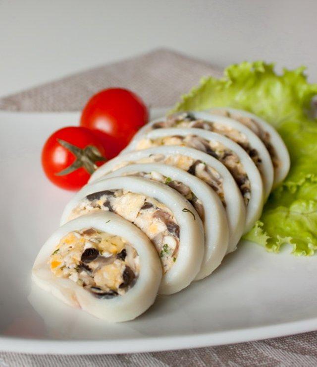 Кальмары фаршированные рецепты приготовления холодная закуска 68