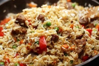 Рецепт Рис со свининой и овощами