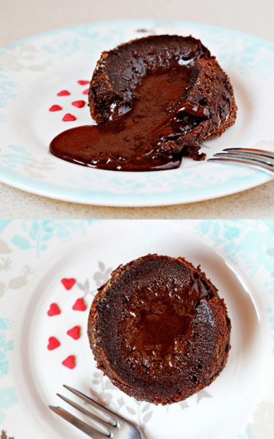 Рецепт Кексы с жидкой начинкой