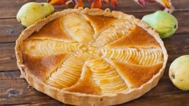 Рецепт Пирог с грушами в миндальном креме