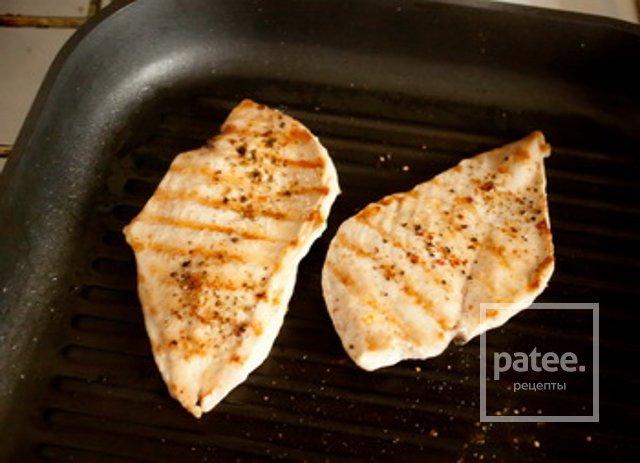 Куриное филе на сковороде кусочками