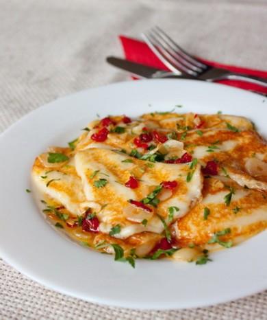 Рецепт Жареный сулугуни с острым перцем и чесноком