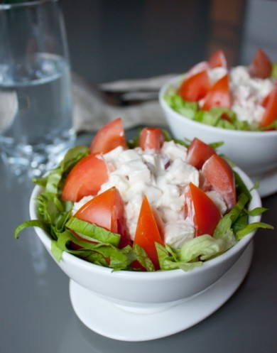 Рецепт Салат из курицы и помидоров