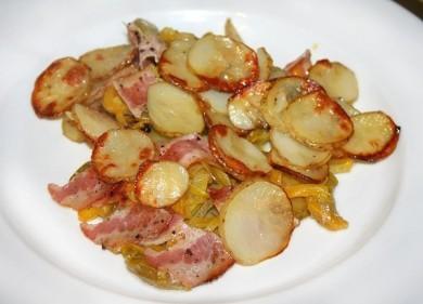 Рецепт Запеченный молодой картофель с овощами