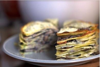 Рецепт Грибной торт из блинов