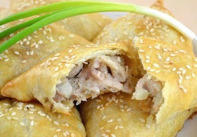 Рецепт Нежная самса с куриной начинкой