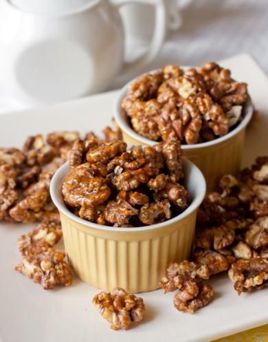 Рецепт Грецкие орехи в коричневом сахаре с чили