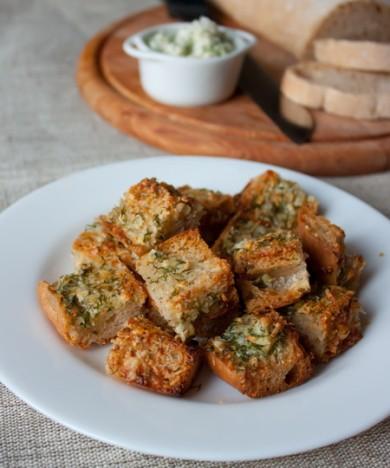 Рецепт Чесночные сухарики из чабатты
