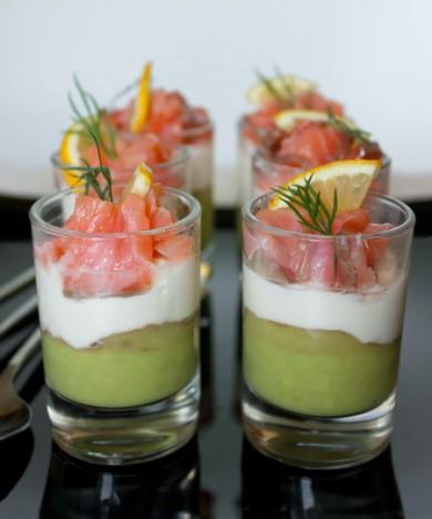 Рецепт Веррины из лосося, сливочного сыра и авокадо