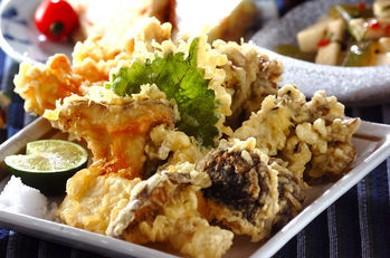 Рецепт Темпура-ассорти из грибов