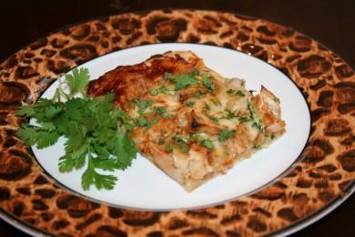 Рецепт Пицца из курицы под соусом барбекю