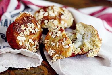 Рецепт Банановые кексы с овсянкой и орехами