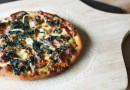 Пицца Альфредо со шпинатом и чесноком