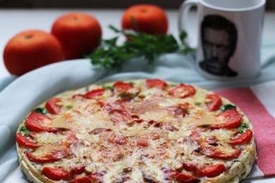 Рецепт Киш с грибами и помидорами