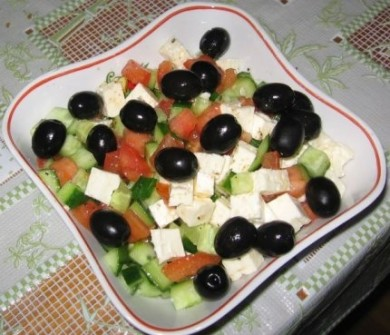 Рецепт Салат из латука и тунца