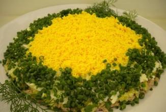 Салат мимоза - приготовление