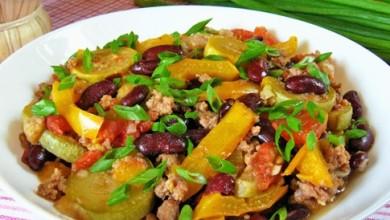 Рецепт Овощное рагу с мясом и фасолью