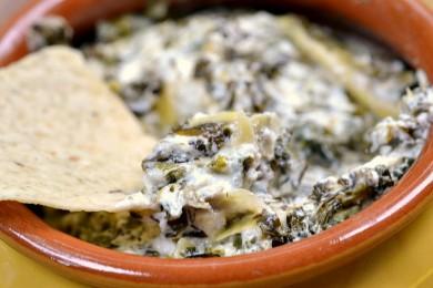Рецепт Козий сыр со шпинатом