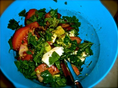 Рецепт Летний салат с петрушкой