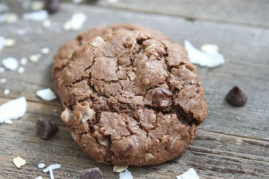 Рецепт Кокосовое овсяное печенье с шоколадом