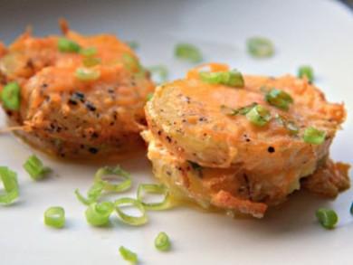 Рецепт Запеченный картофель с ветчиной и сыром