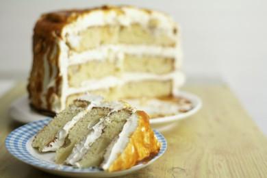 Рецепт Грушевый торт в карамели