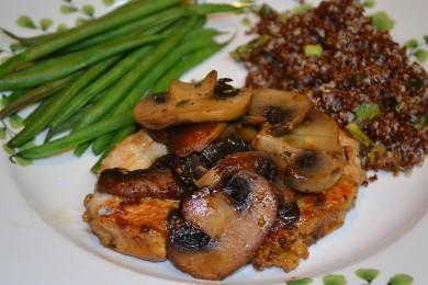 Рецепт Отбивные с индейки с грибами