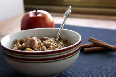 Рецепт Овсяная каша с яблоком и корицей(из долговарки)