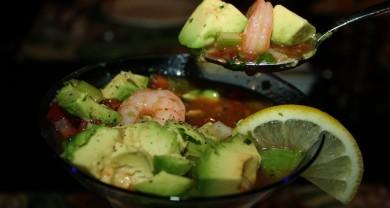 Рецепт Мексиканский коктейль из креветок