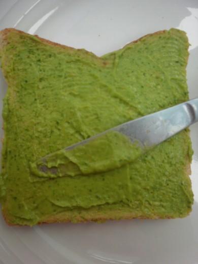 Рецепт Бутерброд с авокадо и шпинатом