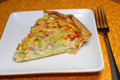 Рецепт Лоранский пирог (киш) с ветчиной и артишоками